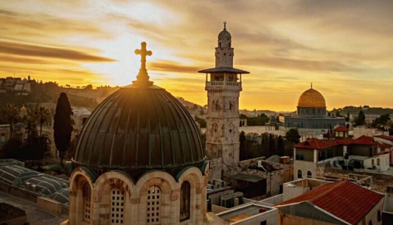 screenshot of jerusalem 3d trailer video on vimeo