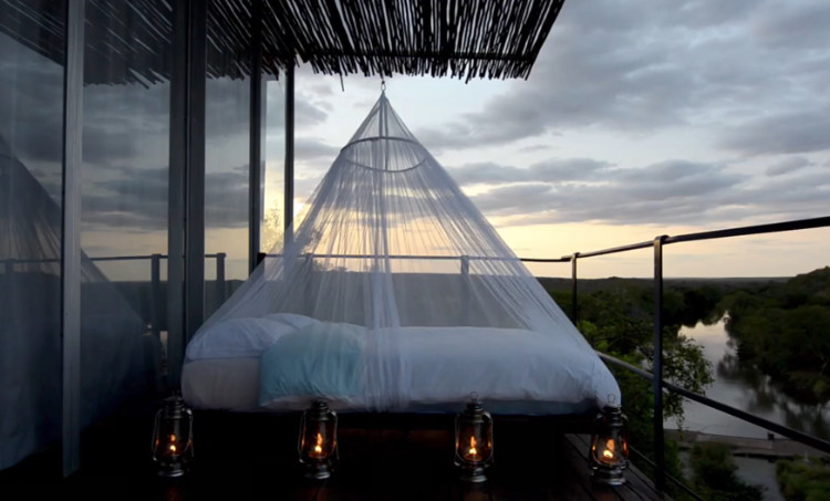 "Singita Lebombo Eco-Lodge lets you sleep in an ""eagle's nest"" - Credit: Singita.com"
