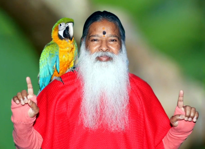 Dr. Sri Ganapathy Sachchidananda Swamiji. Credit: sgsbirds.com video screencap