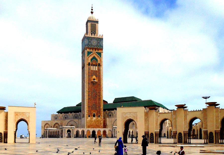 Hassan II Mosque in Casablanca, Morocco. Credit: Pixabay