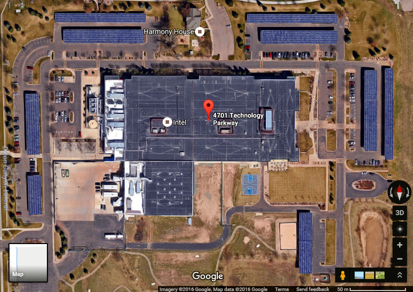 Intel Offices in Fort Collins Colorado. Credit: Google maps screenshot