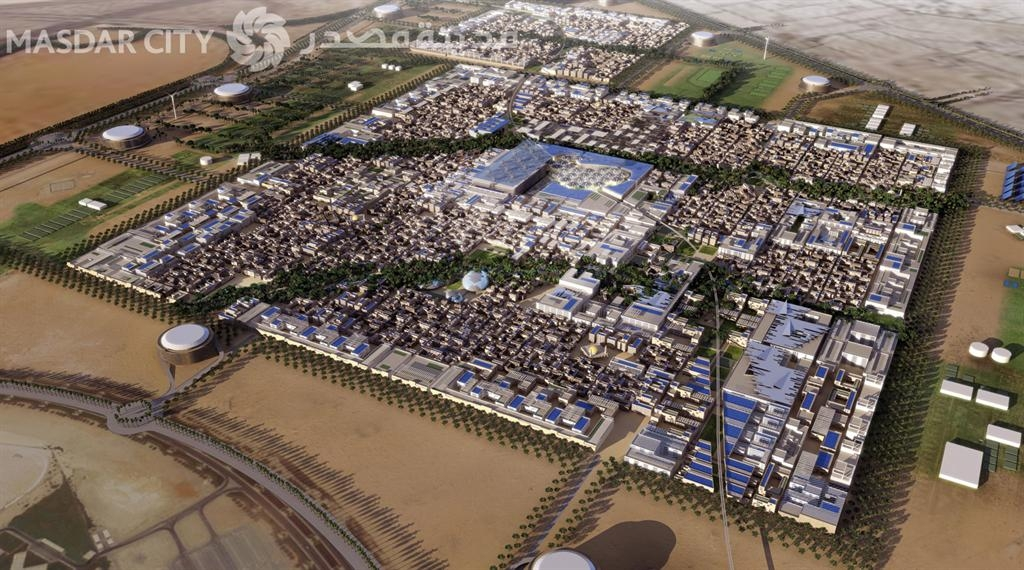 Proposed masterplan of Masdar City. Credit: masdar.ae