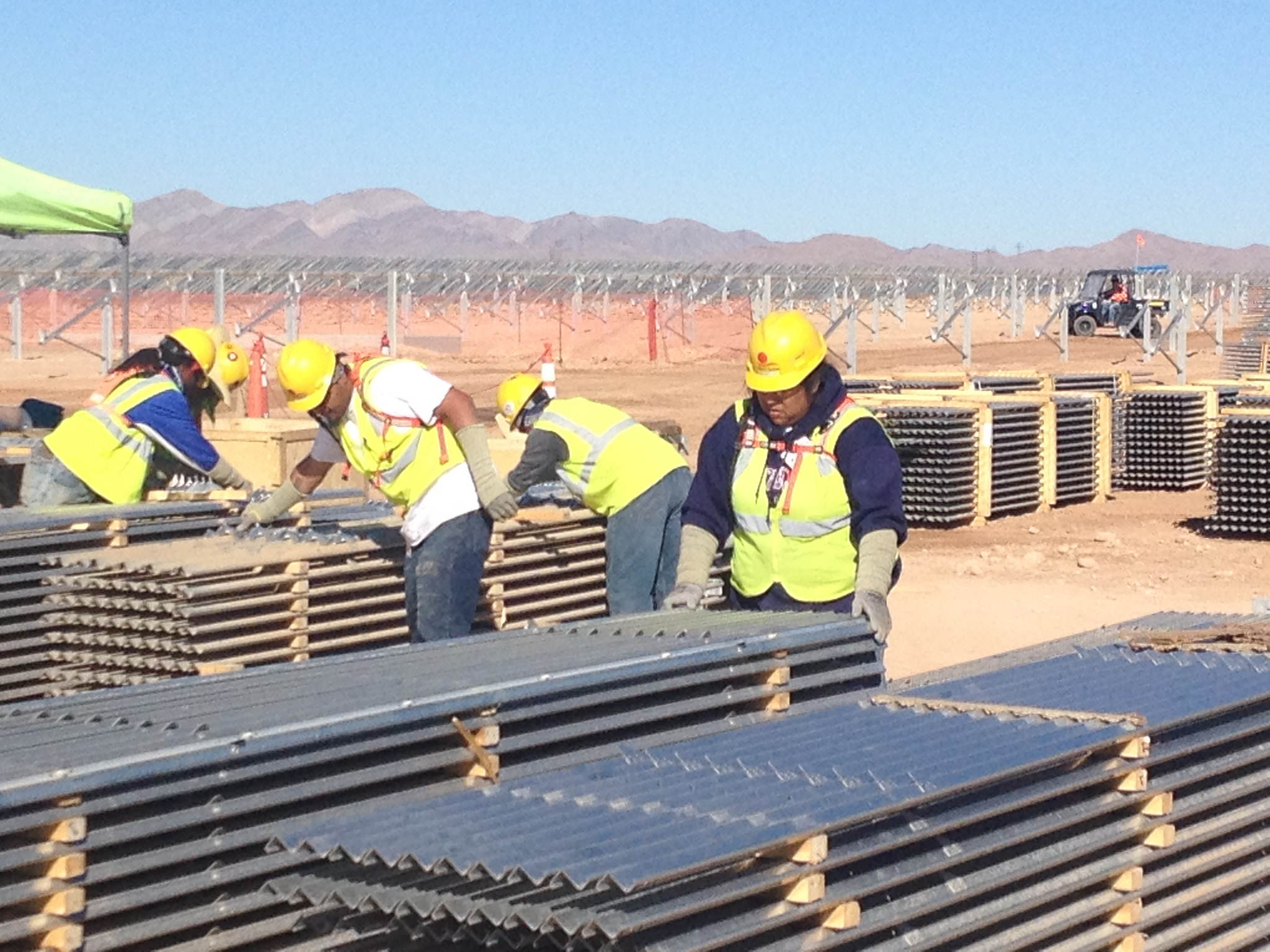 Harnessing the Sun's Energy in Nevada's Tribal Lands. Credit: DOI.gov