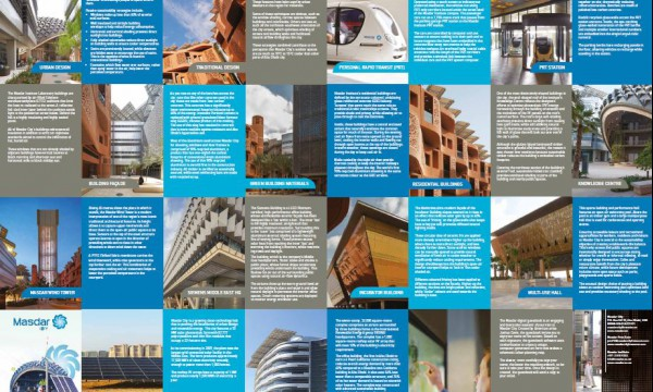 Masdar City Tour guide. Click image to see open an enlarged, easy-to-read version in a new tab. Credit: masdar.ae