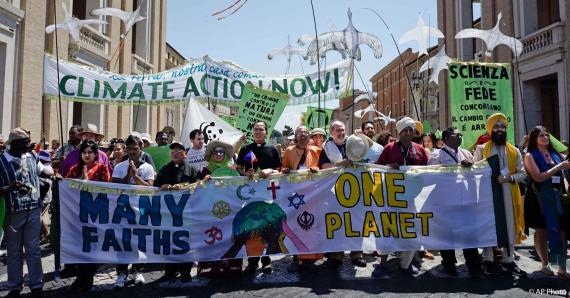 Interfaith Climate Demonstration in St. Peter's Square, at the Vatican. Credit: blogs.state.gov