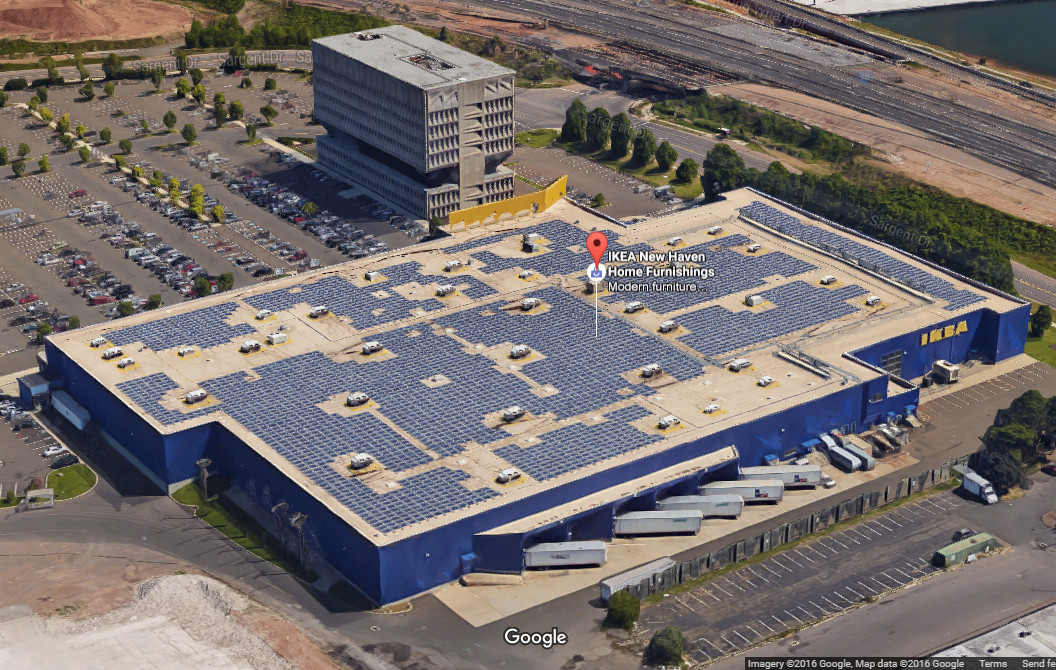 IKEA New Haven Connecticut. Credit: Google maps screenshot